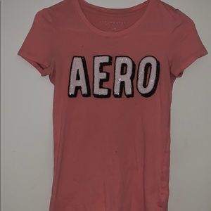 Pink Aeropostale shirt- worn once